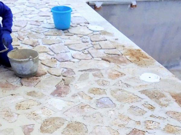Rejuntado de piedra natural_Construcciones y Reformas Sola